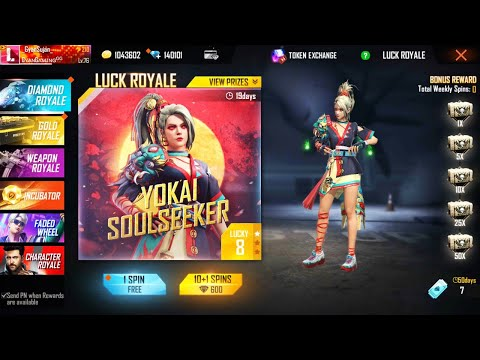 Garena Free Fire Live - New Luck Royale Dress