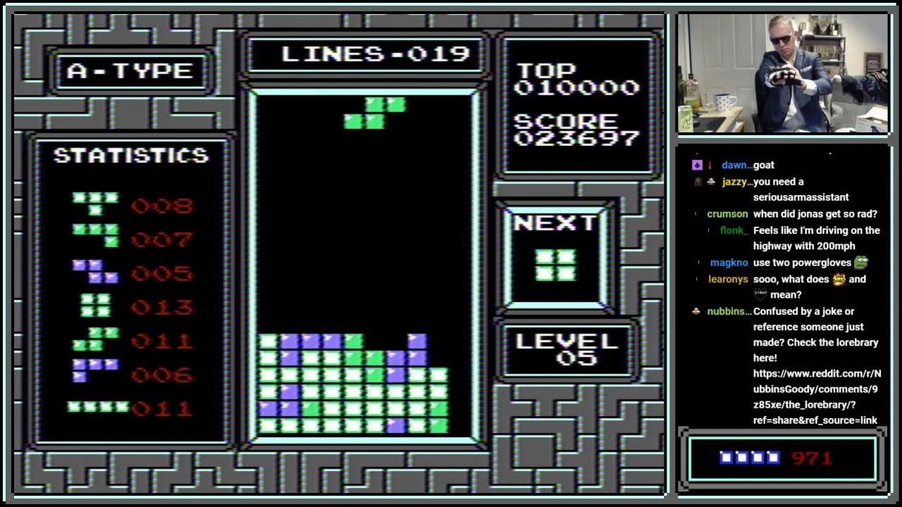 Jonas + Power Glove + Tetris = Maximum Power!