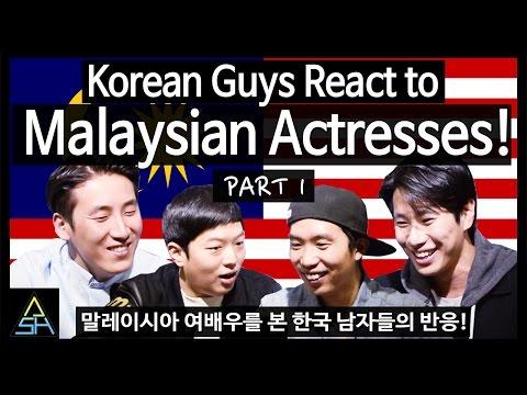 Korean Guys React to Malaysian Actresses #1 [ASHanguk]