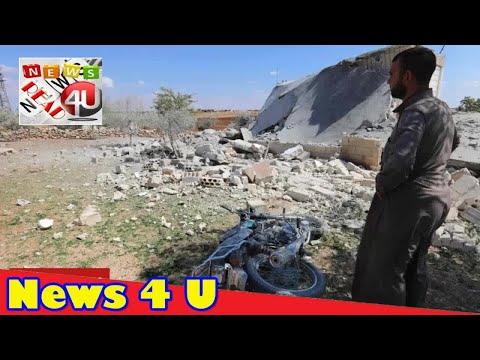 'Fiercest raids in weeks' in north Syria