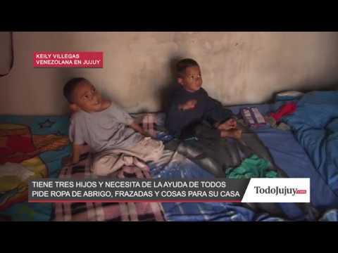 Una familia venezolana con tres hijos pequeños necesita de la solidaridad de los jujeños