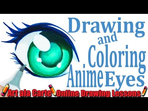 Drawing And Coloring Anime Eyes