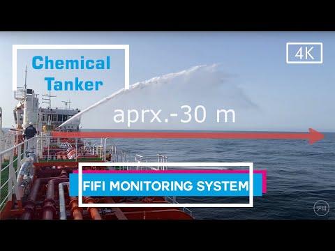 Fire Monitor FiFi Test -Oil Tanker vessel RST 12C