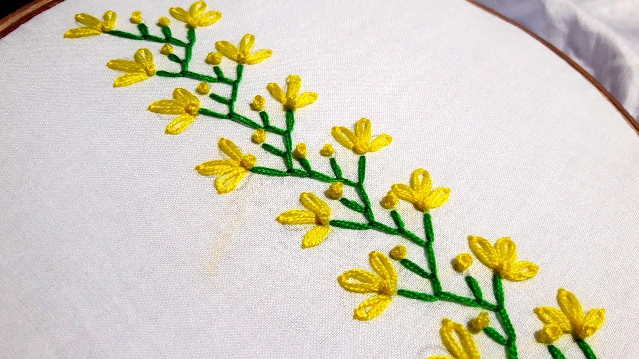 Hand Embroidery Easy Beautiful Border Design For Beginners