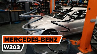Cómo cambiar los muelles de suspensión delantero en MERCEDES-BENZ W203 Clase C [TUTORIAL DE AUTODOC]