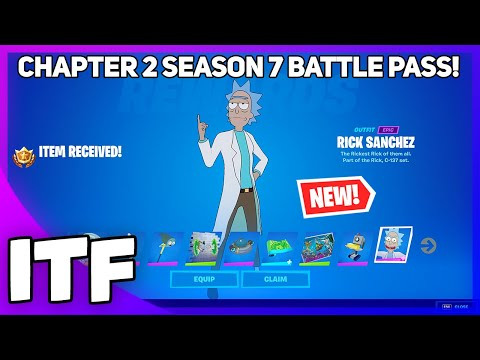 CHAPTER 2 SEASON 7 Battle Pass OVERVIEW! I BOUGHT ALL TIERS! (Fortnite Battle Royale)