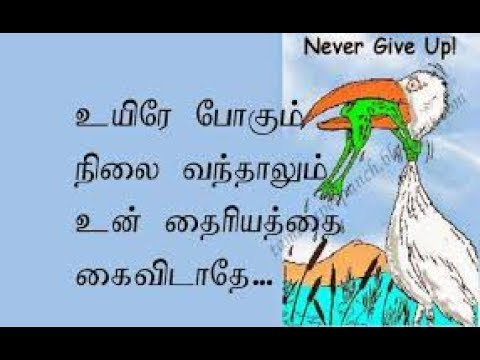 Never ever give up   Self confidence speech    In Tamil
