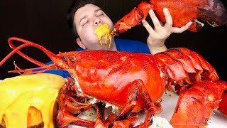 Cheesy Giant 15 Pound Whole Lobster With Cheese Sauce • MUKBANG