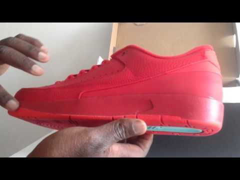 553528ec08b Air Jordan 2 II Retro Low Gym Red University Red First Look - YouTube