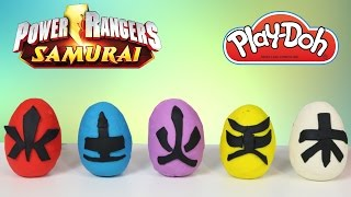 play doh power rangers surprise eggs opening with ckn toys super samurai dino charge megaforce