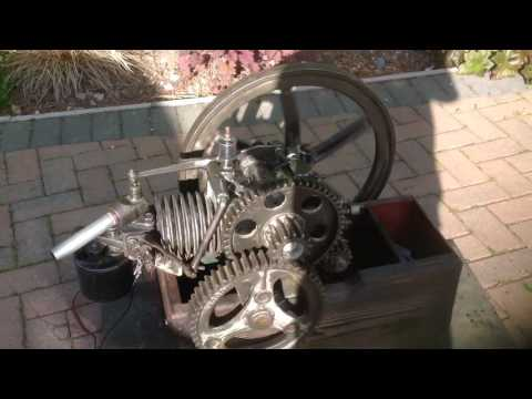 Aermotor 8 stroke engine hitt and miss governor low tension ignition