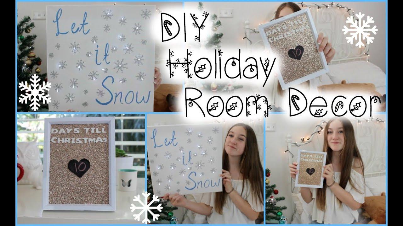 diy holidaychristmas room decor tumblr inspired - Christmas Room Decor