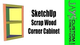 Sketchup - Pocket Hole Corner Cabinet - 174