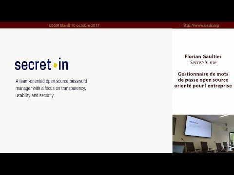 2017-10-10 Secret-in.me un gestionnaire de mots de passe open source