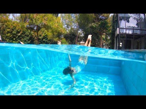 Carla Underwater swimming in a private pool