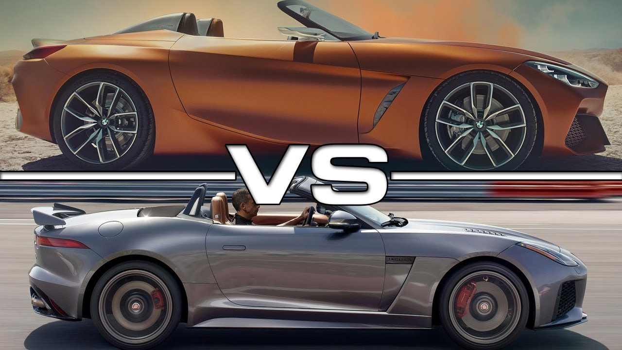 2018 Bmw Z4 Concept Vs 2018 Jaguar F Type Convertible