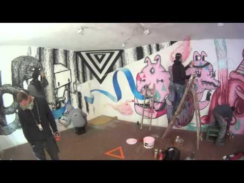 Cave Painting session #6 Freundeskreis Street-Art Berlin- 11.06.11