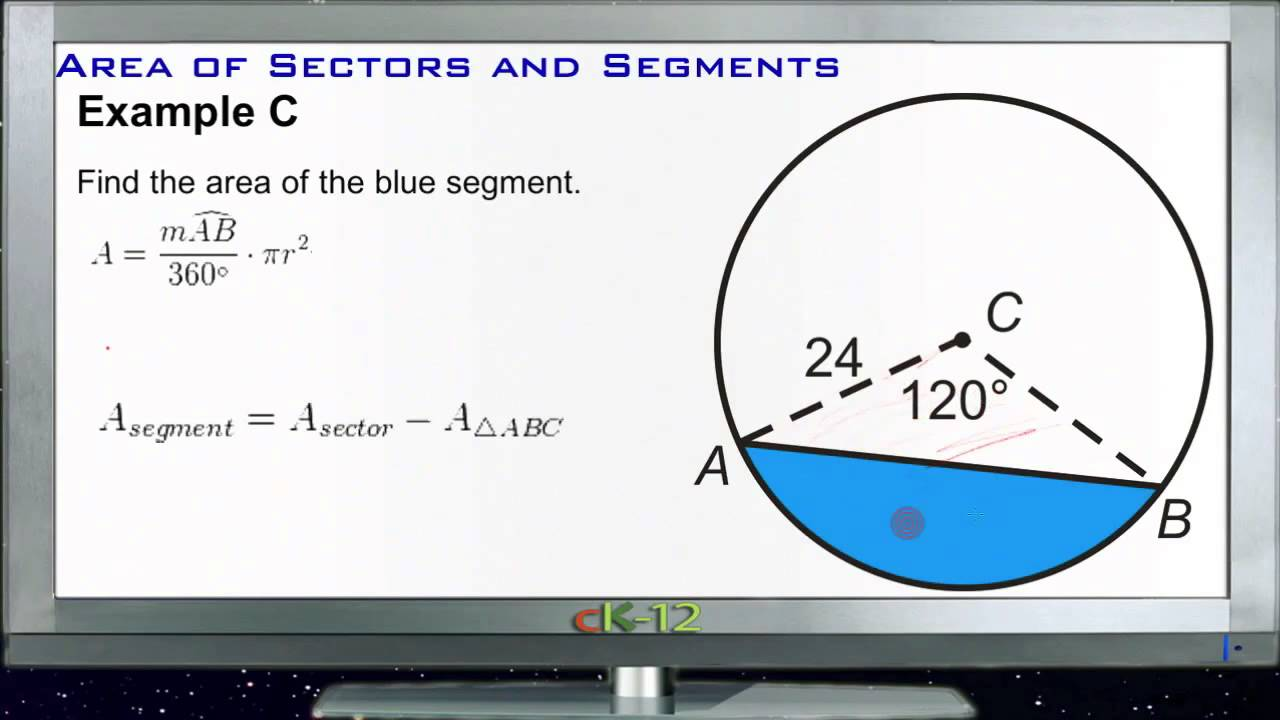 Calculating areas of sectors and segments examples basic calculating areas of sectors and segments examples basic geometry concepts youtube ccuart Gallery