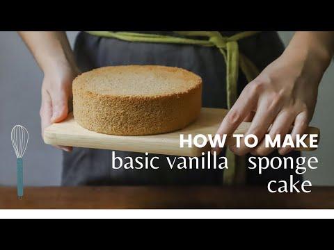 Basic Vanilla Cake   Using 2 Eggs   How To Make Cake At Home