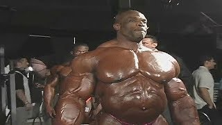 Ronnie Coleman pumping up before Mr. Olympia - Biggest Bodybuilder Ever- RARE VIDEO