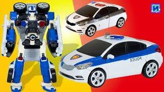Тоботы трансформери: Тобот З поліцейська машинка трансформується в робота. Розпакування.