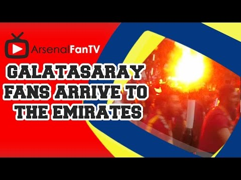 Galatasaray Fans Arrive At The Emirates for Arsenal Match