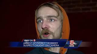 Arrest of Everett robbery suspect caught on camera
