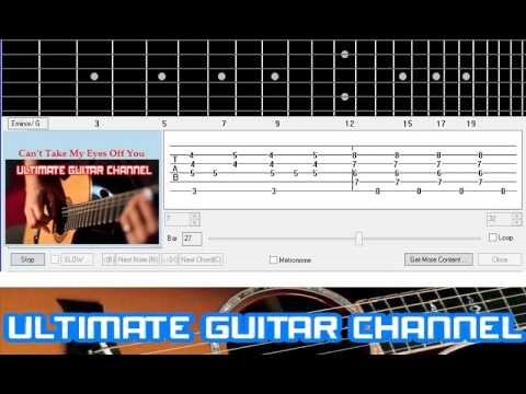 Guitar Solo Tab Cant Take My Eyes Off You Frankie Valli Youtube