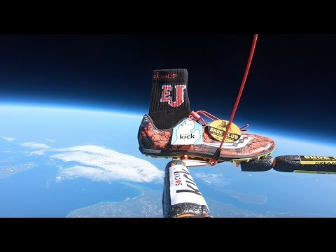 Shoe and Sock on the Edge of Space