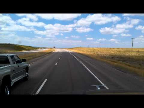 Interstate 25 North starting in Chugwater, Wyoming