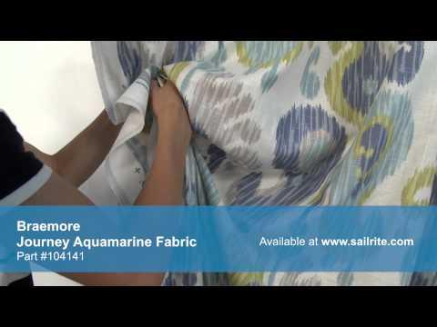 Video of Braemore Journey Aquamarine Fabric #104141