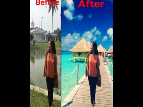 Edit Foto Keren Mengubah Background Foto Di  PicsayPro