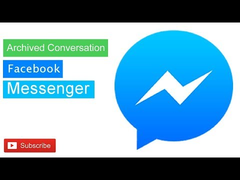 Facebook Tips || How To Save Archived Conversation In Facebook Messenger