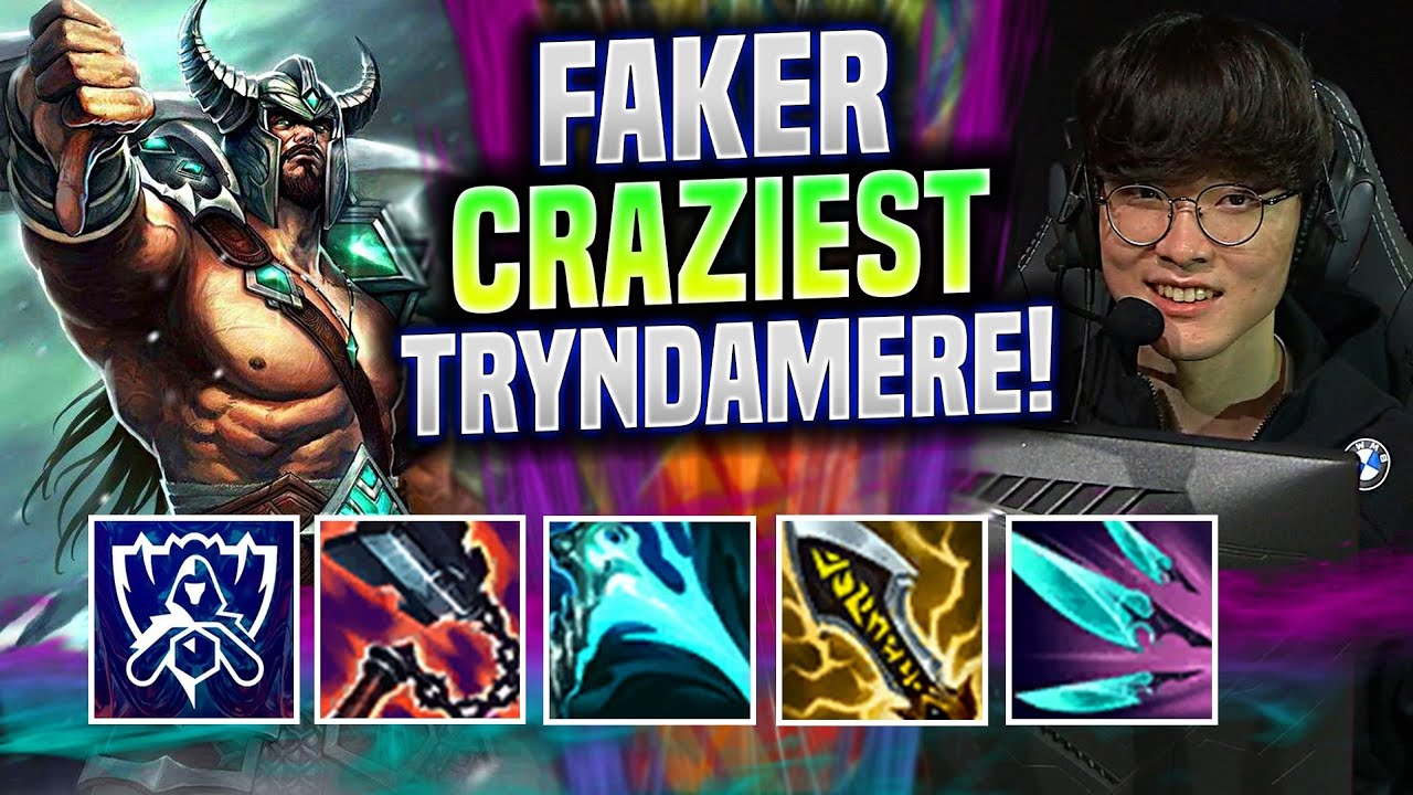 FAKER SUPER CRAZY TRYNDAMERE GAME IN WORLDS BOOTCAMP KR! - T1 Faker Plays Tryndamere Mid vs Talon!