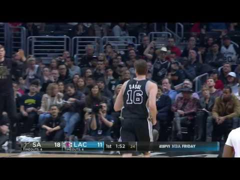 San Antonio Spurs vs Los Angeles Clippers | February 24, 2017 | NBA 2016-17 Season