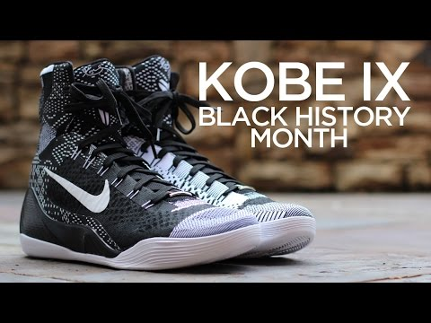 aad8ac7a888b Closer Look  Nike Kobe IX Elite - BHM - YouTube