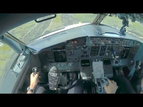 Boeing 737-400 Cockpit Flight LCLK-LGTS | Cockpit Takeoff and Landing | GoPro Full Flight