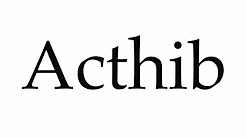 How to Pronounce Acthib