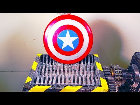 Thumbnail: Shredding Avengers Captain America Shield And Some More Marvel Toys