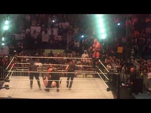 TripleH Join forces with the SHEILD at WWE live event in AbuDhabi Tour in Dec 2017