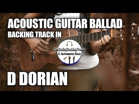 acoustic guitar ballad backing track in d dorian