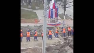 видео Текущий ремонт тротуарной плитки