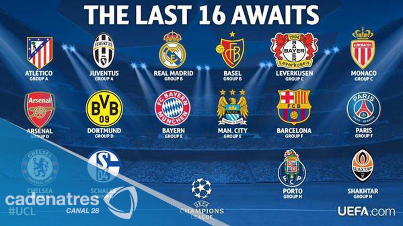 Cuartos De Final Champions 2014 | Los 16 Equipos Clasificados A Los Octavos De Final De La Champions