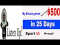 SportArb: Day 25 my Bitcoin up by $500 plus live withdrawal