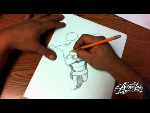 How To Draw A Smile Now Clown Face - Xtasys Tattoo Flash