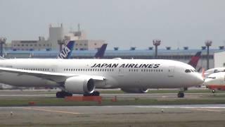 【航空無線付き】成田空港で飛行機観察 確実に指示する管制官 次々に離着陸する大型機