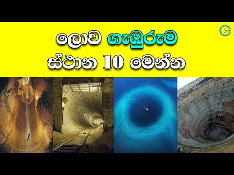 Top 10 deepest places in the World - Sinhala Explanation | Shanethya TV