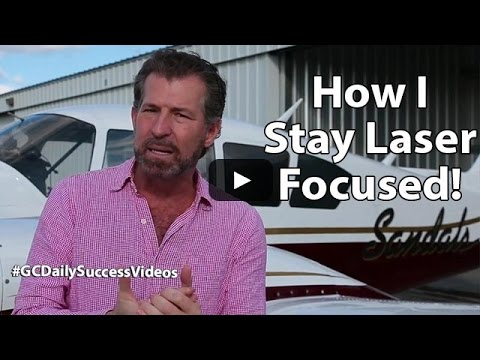How I stay laser focused! Gary Coxe #1799