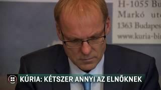 Duplájára emelné a Kúria elnökének fizetését a KDNP 19-11-30