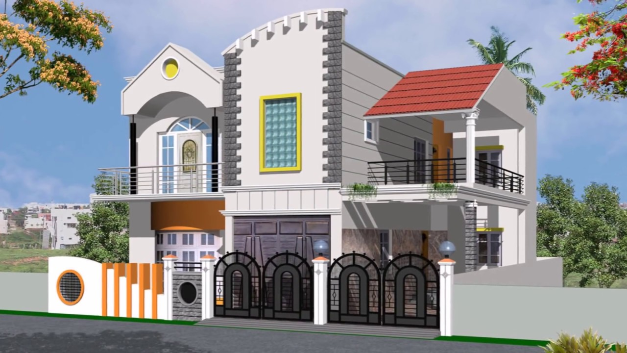 Sloping Roof House Designs Collections Youtube